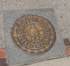 Inlaid symbol on the Freedom Trail