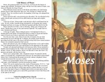 Memorial service for Moses - bulletin-1