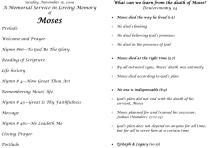 Memorial service for Moses - bulletin-2