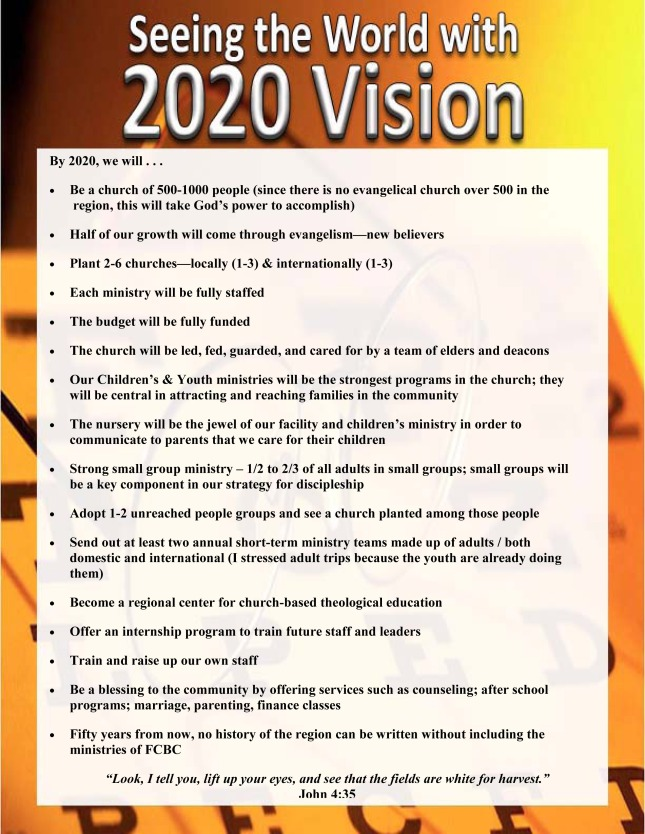 2020 vision poster