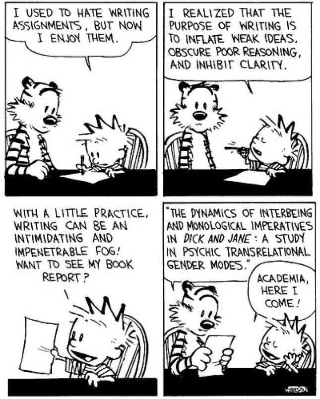 Calvin & Hobbes - academic wordsmith
