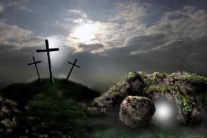 cross - empty tomb