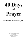 40 Days of Prayer - Fall 2013 - Prayer calendar-1