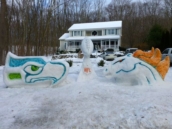 SuperBowl snow castle