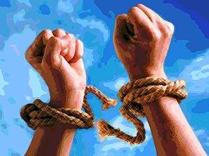 break free of sin - posterize crosshatch
