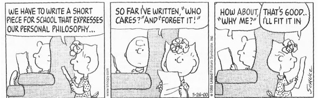 Peanuts - Why me - life philosophy