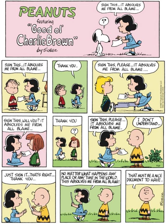 Peanuts - no blame