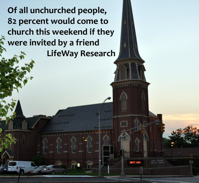 Invite the unchurched to church