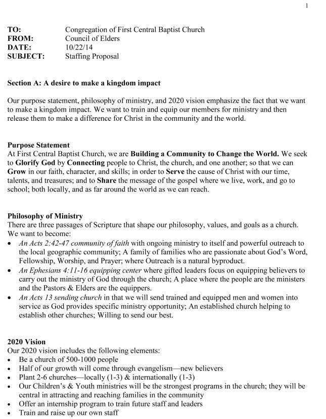 Staffing Proposal - 10-29-14 - 2 page overview & comments-1