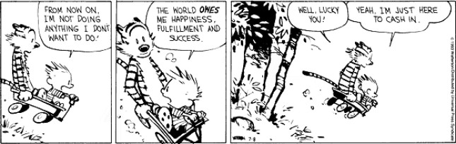 Calvin & Hobbes - entitlement