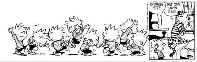 Calvin & Hobbes - snow dance