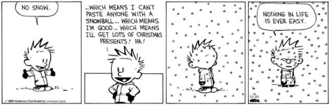 Calvin & Hobbes - snow - temptation