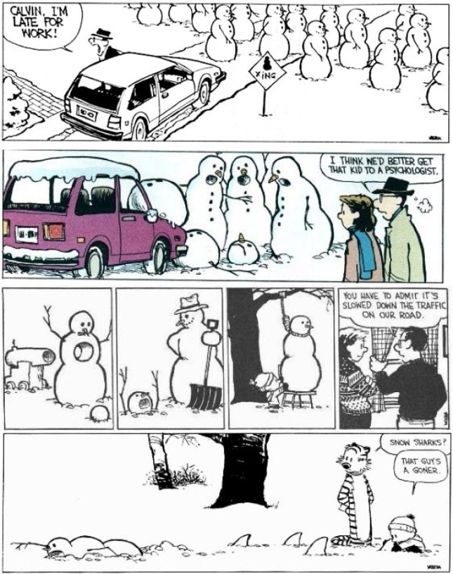 Calvin & Hobbes - snowmen-1