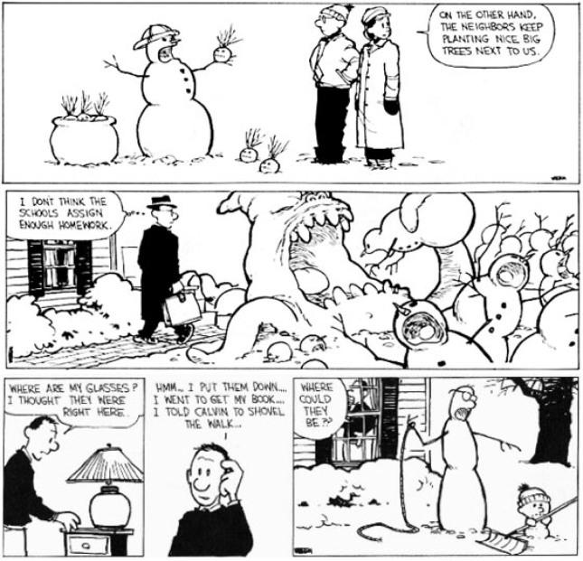 Calvin & Hobbes - snowmen-4