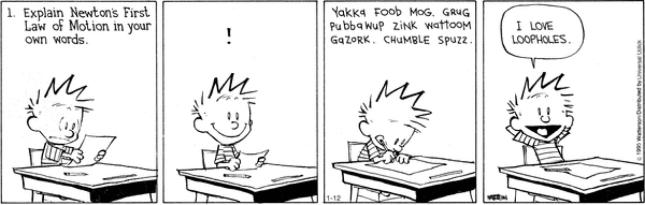 Calvin & Hobbes - loopholes
