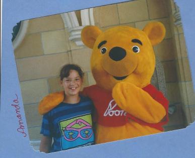 Amanda and Pooh Bear-July 1998