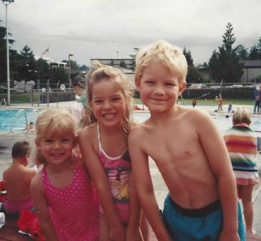 Amanda, Jon, Caitlin-Pool Jun 93