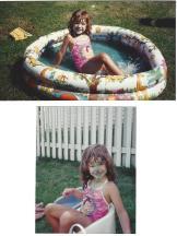 Amanda-Paint in the Pool Aug 1992
