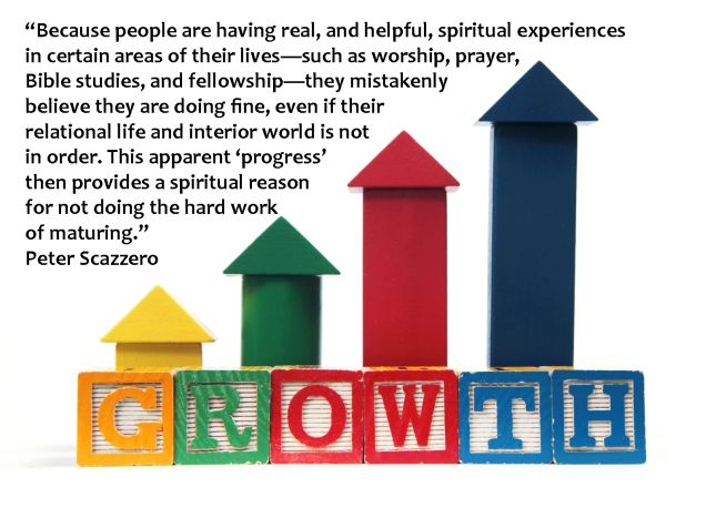Peter Scazerro quote on the hard work of maturing