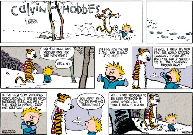 Calvin & Hobbes - Resolutions 5