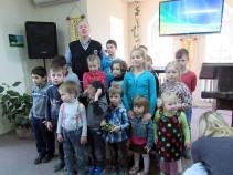 Children going to Sunday School