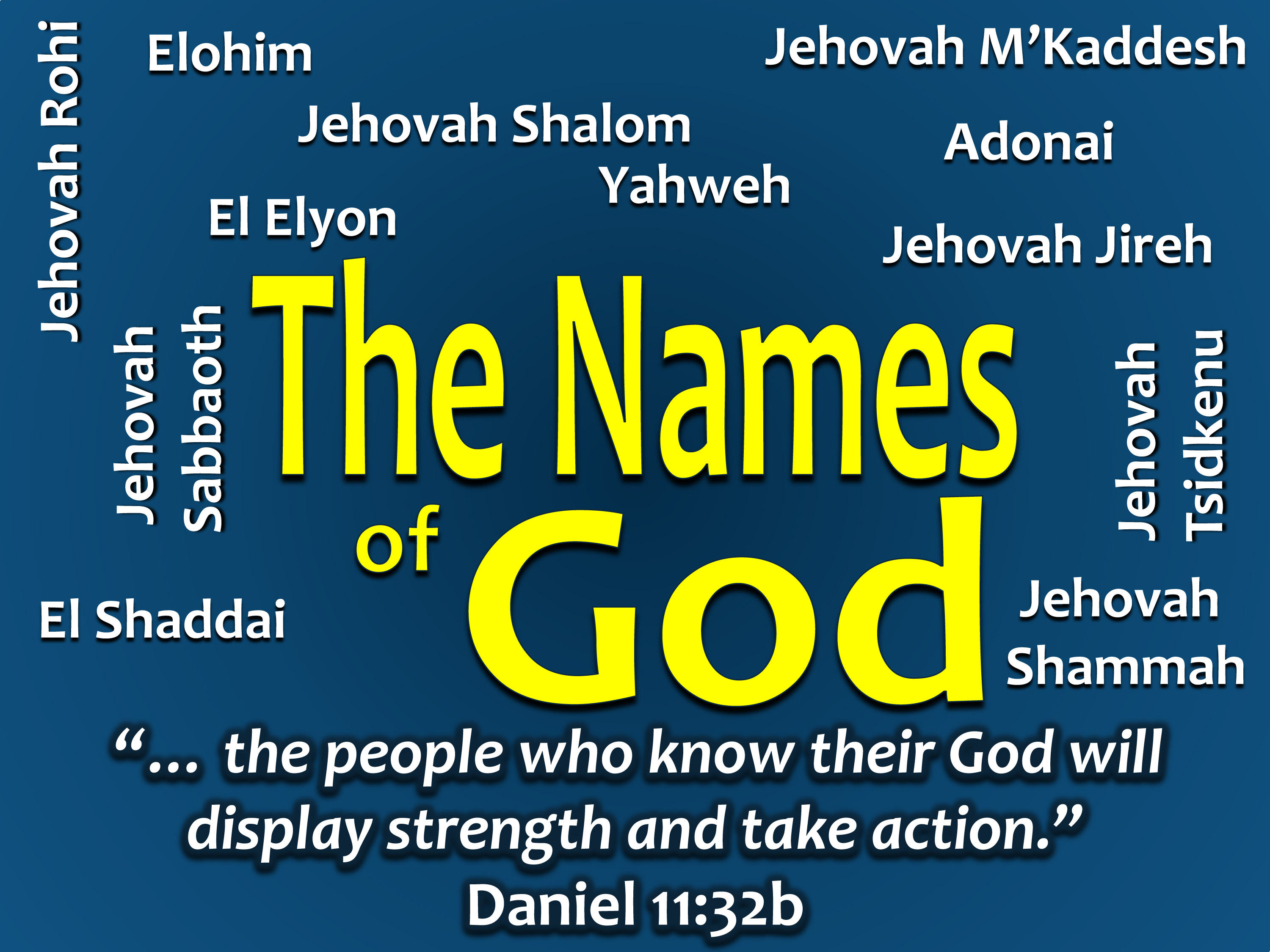 1. Names of God: Elohim