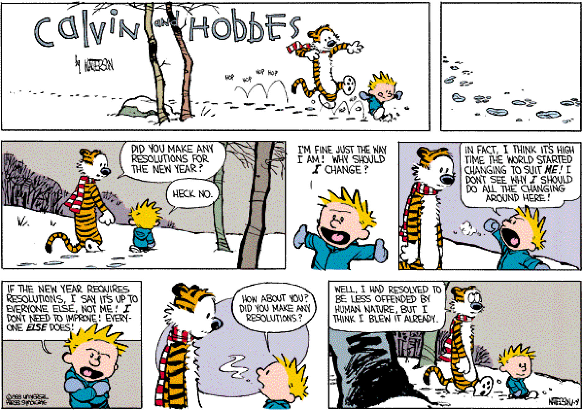 calvin and hobbes on target